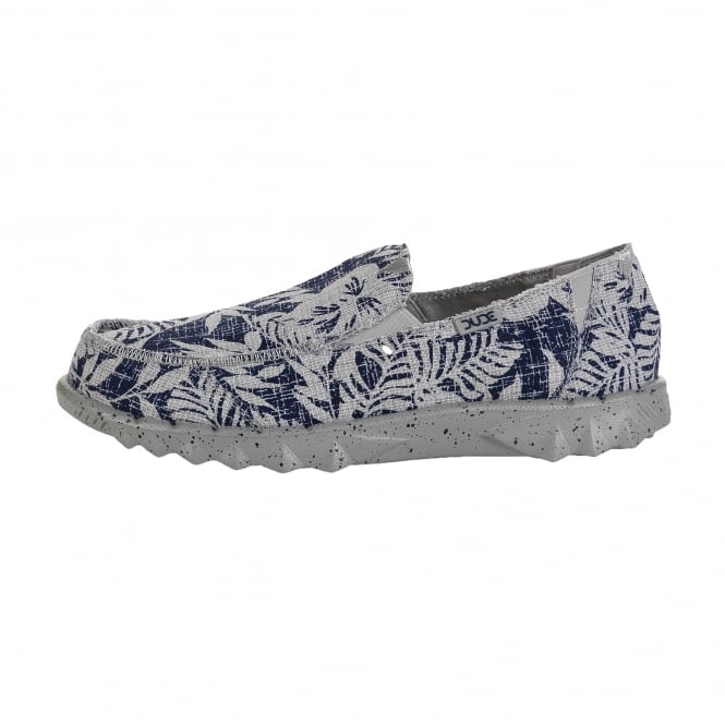 Dude Shoes Farty Print Navy Flower
