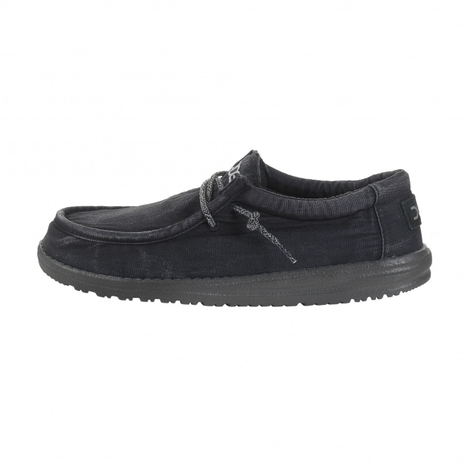 Dude Shoes Wally Washed Total Black