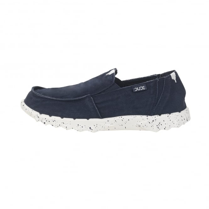 Dude Shoes Farty Washed Navy