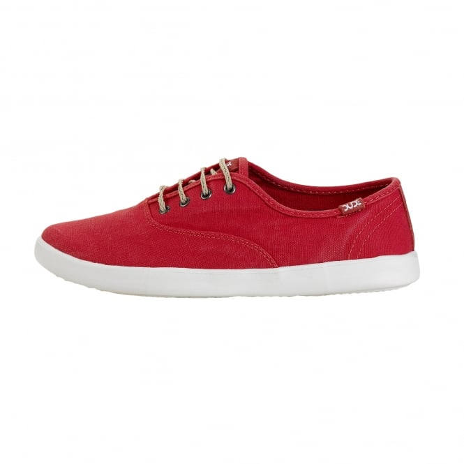 Dude Shoes Jenny Washed Coral Lace Up