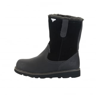 womans black fur lined winter boots