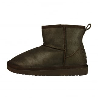 Sella Ladies Boot Bronze Lame Suede