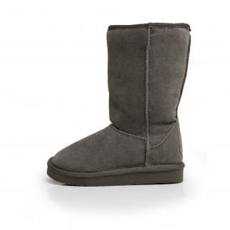 grey suede womens slouch boots