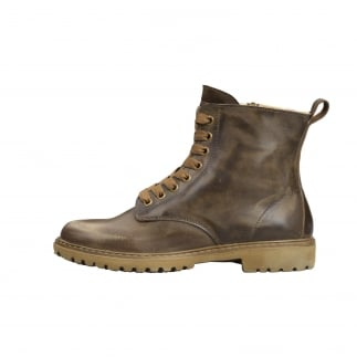 high brown logger boots