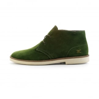 green mens suded boots