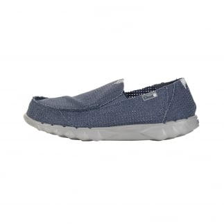 Farty Post Sport Perforated Navy Slip On / Mule