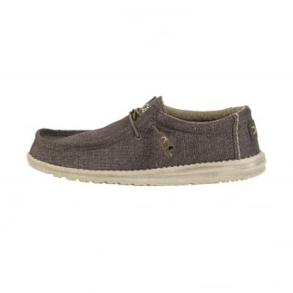 comfy brown mens slip ons