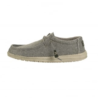 green canvas mens slip ons