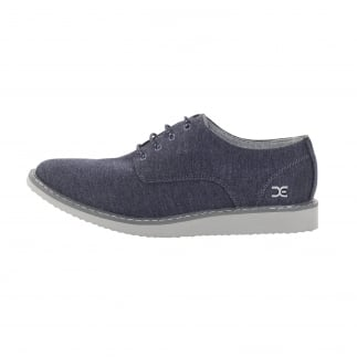 blue canvas smart shoes