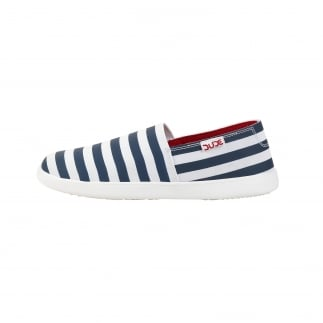 stripy womens slip ons
