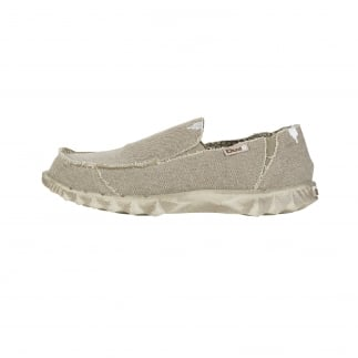 womens beige canvas slip ons