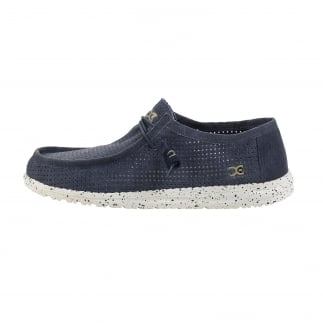 Wally Perforated Navy